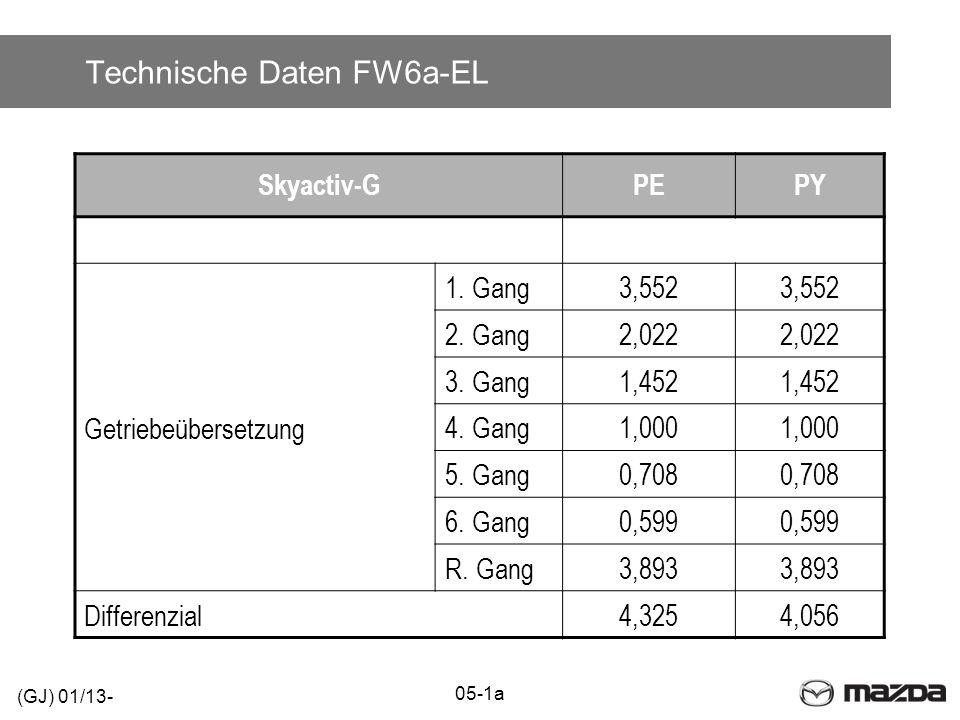Technische Daten FW6a-EL