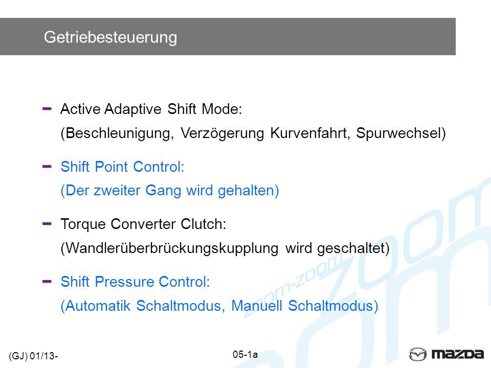 Getriebesteuerung Active Adaptive Shift Mode: (Beschleunigung, Verzögerung Kurvenfahrt, Spurwechsel)