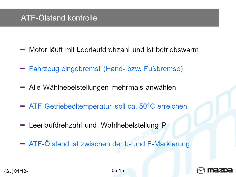 ATF-Ölstand kontrolle