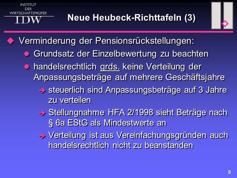 Neue Heubeck-Richttafeln (3)