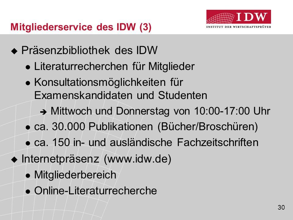 Mitgliederservice des IDW (3)