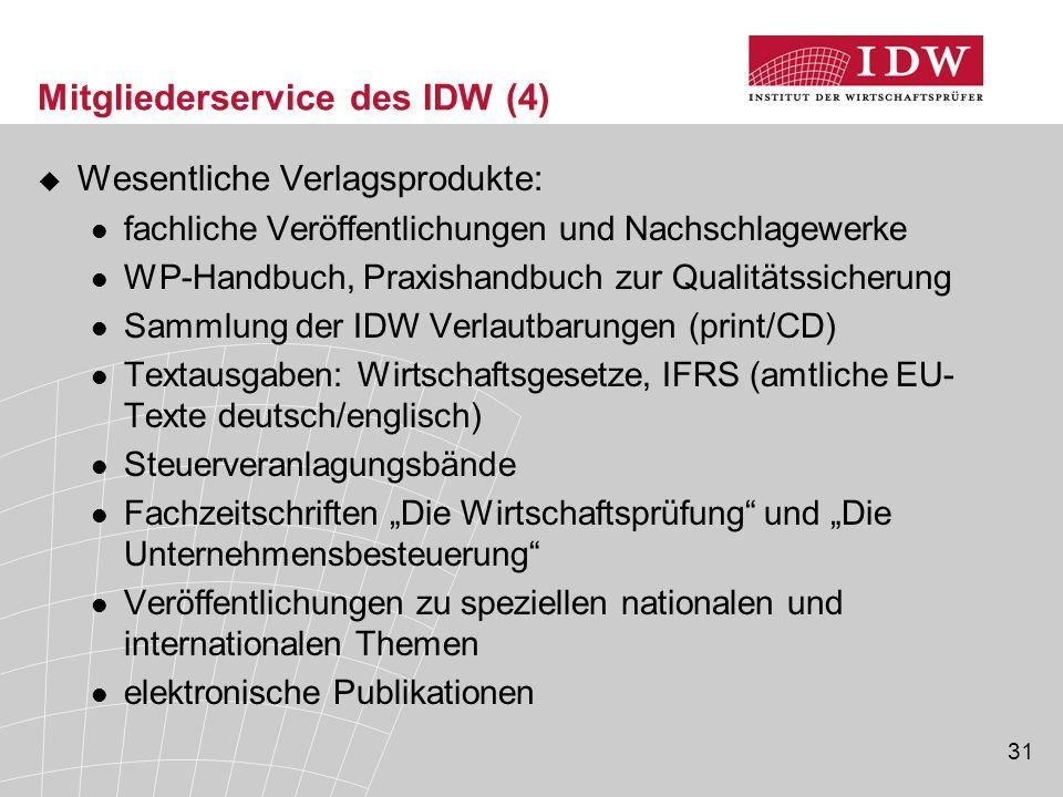 Mitgliederservice des IDW (4)