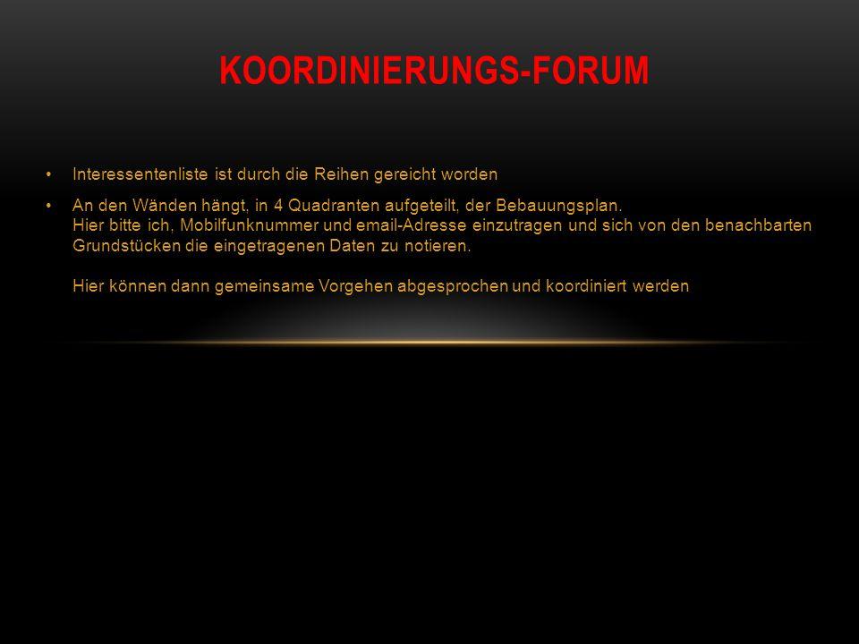 Koordinierungs-forum