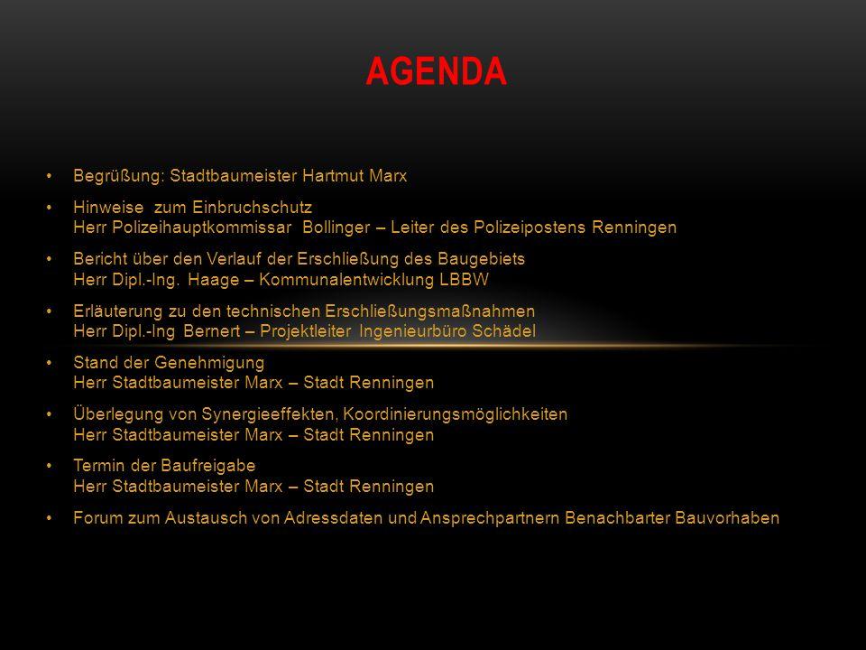 Agenda Begrüßung: Stadtbaumeister Hartmut Marx