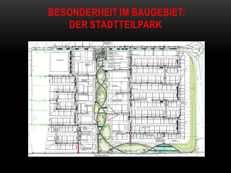 Besonderheit im Baugebiet: Der Stadtteilpark