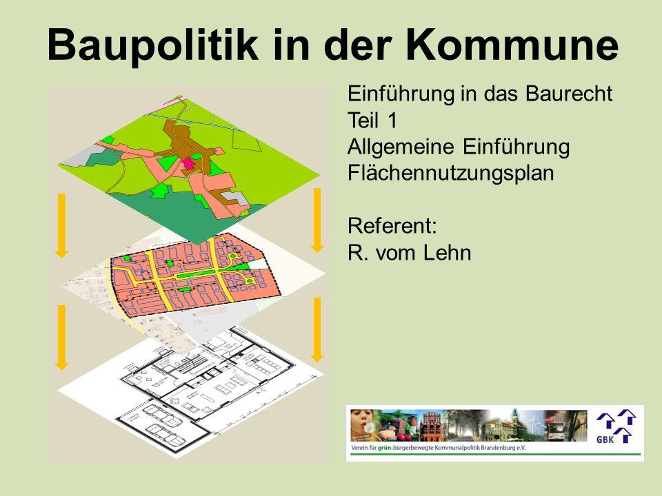 Baupolitik in der Kommune