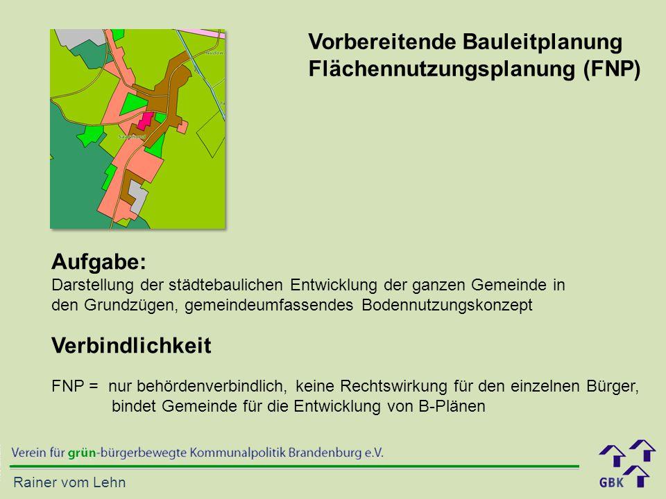 Vorbereitende Bauleitplanung Flächennutzungsplanung (FNP)