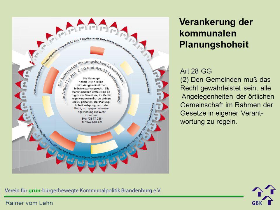 Verankerung der kommunalen Planungshoheit Art 28 GG