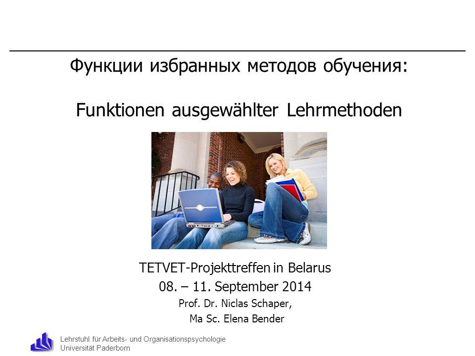 TETVET-Projekttreffen in Belarus
