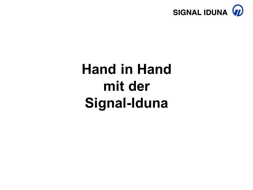 Hand in Hand mit der Signal-Iduna