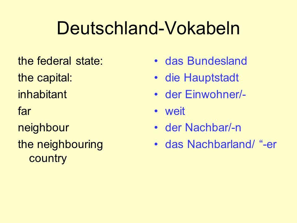 Deutschland-Vokabeln