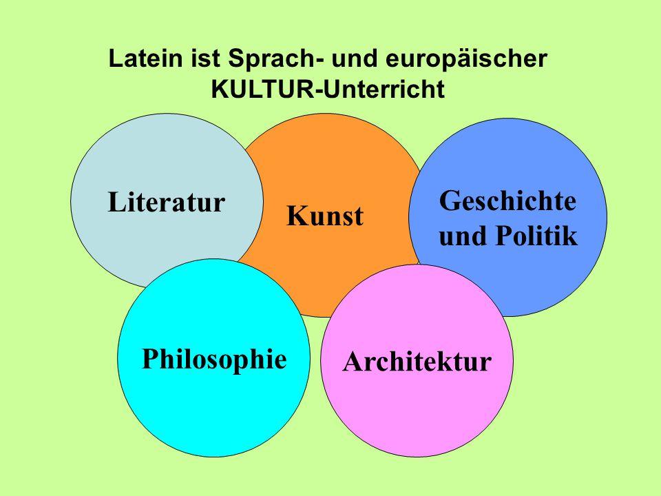 Latein ist Sprach- und europäischer KULTUR-Unterricht