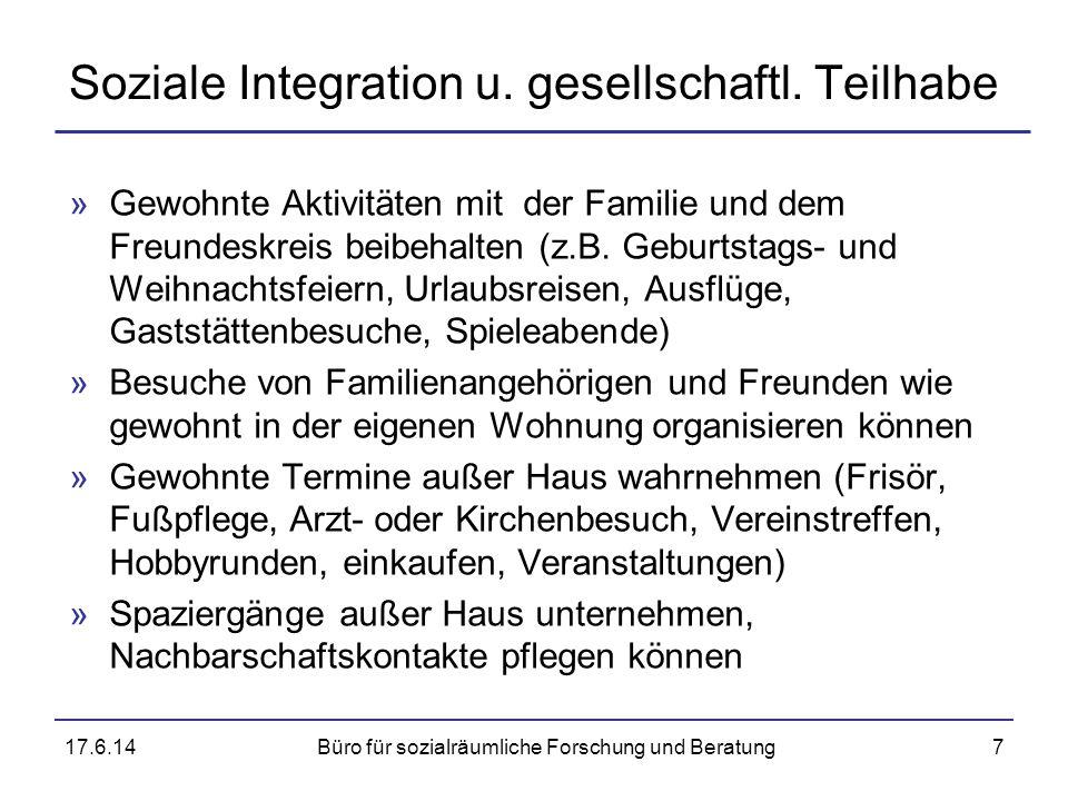 Soziale Integration u. gesellschaftl. Teilhabe