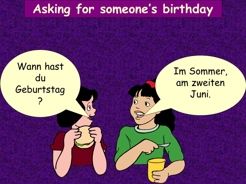Asking for someone's birthday