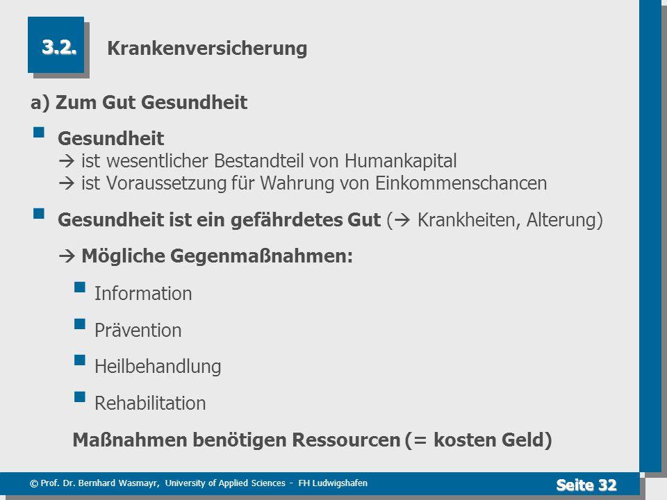 Krankenversicherung 3.2. a) Zum Gut Gesundheit.