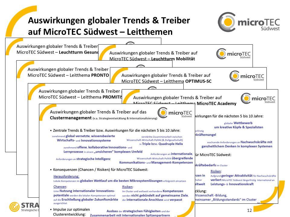 Auswirkungen globaler Trends & Treiber auf MicroTEC Südwest – Leitthemen