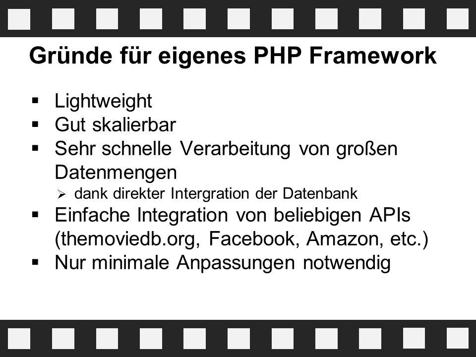 Gründe für eigenes PHP Framework