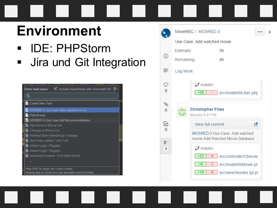 Environment IDE: PHPStorm Jira und Git Integration