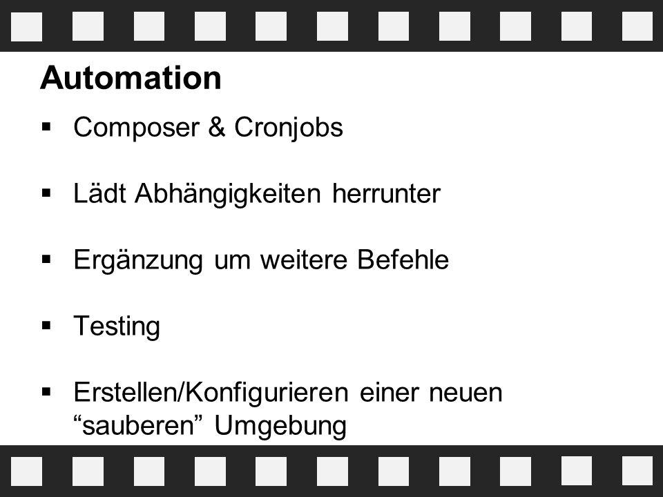 Automation Composer & Cronjobs Lädt Abhängigkeiten herrunter