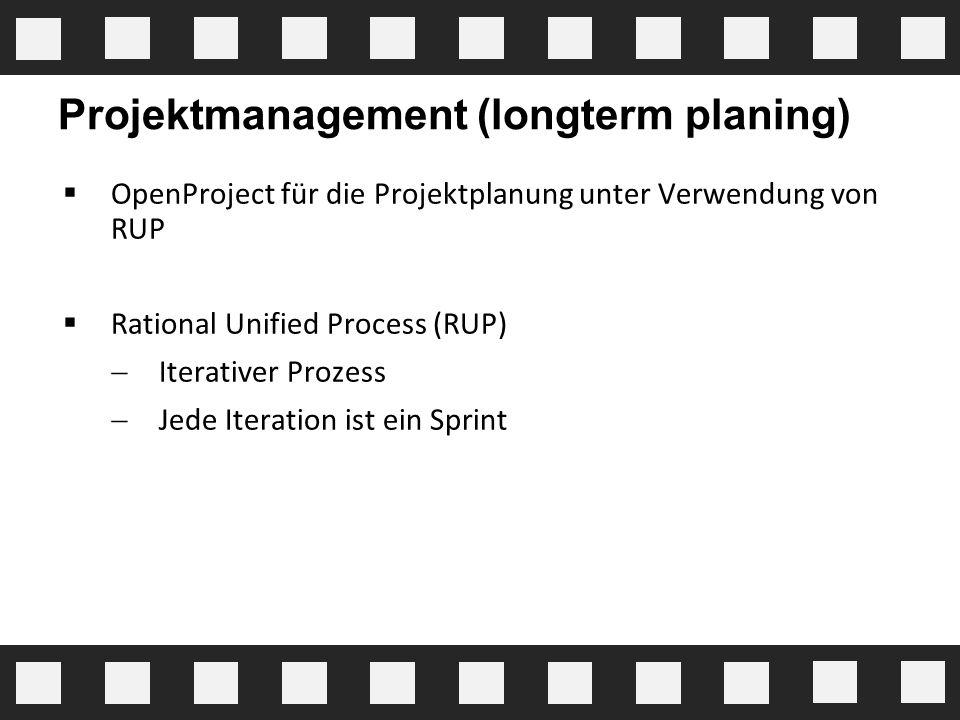 Projektmanagement (longterm planing)