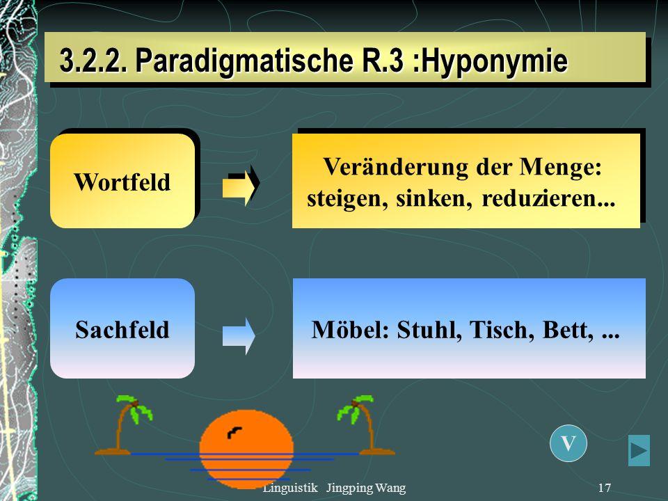 3.2.2. Paradigmatische R.3 :Hyponymie