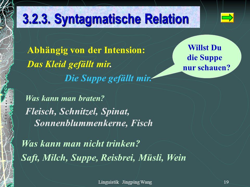 3.2.3. Syntagmatische Relation