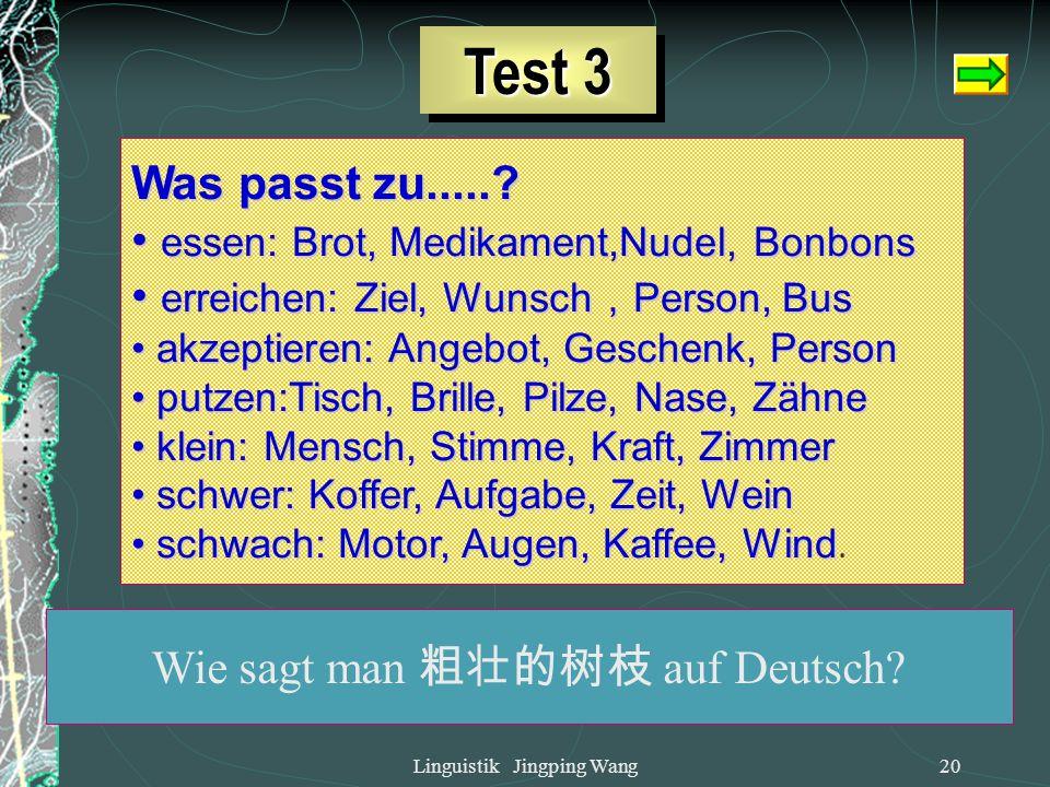 Test 3 Was passt zu..... essen: Brot, Medikament,Nudel, Bonbons