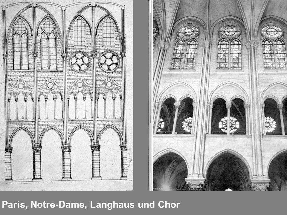 Paris, Notre-Dame, Langhaus und Chor