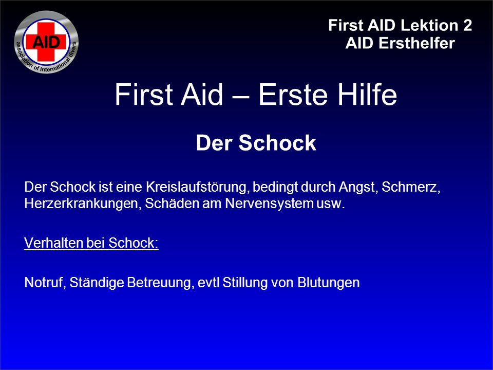 First Aid – Erste Hilfe Der Schock