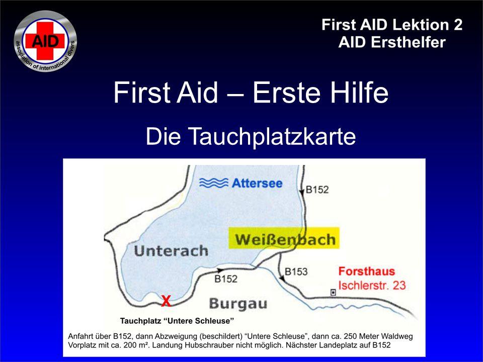 First Aid – Erste Hilfe Die Tauchplatzkarte