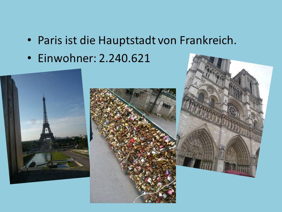 Paris ist die Hauptstadt von Frankreich.