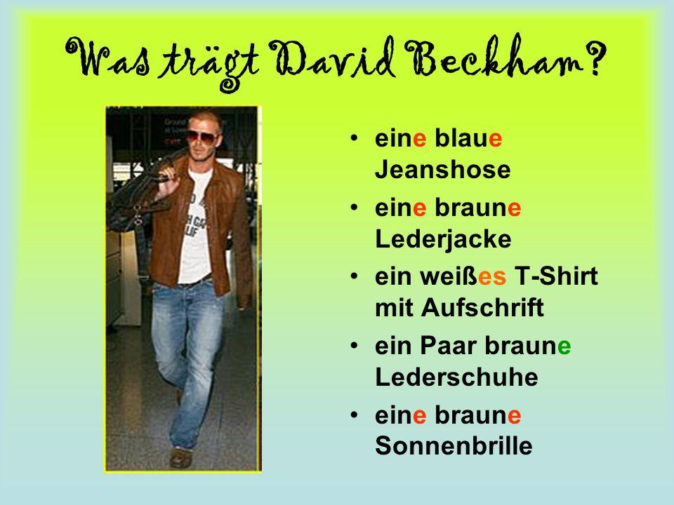 Was trägt David Beckham