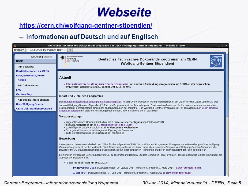 Webseite https://cern.ch/wolfgang-gentner-stipendien/