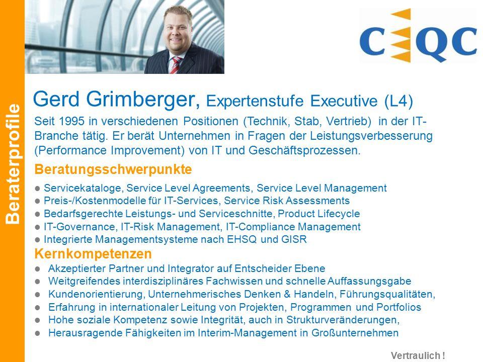 Gerd Grimberger, Expertenstufe Executive (L4)