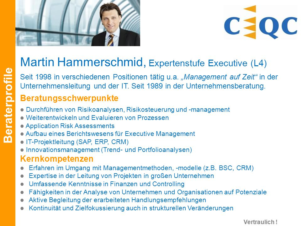 Martin Hammerschmid, Expertenstufe Executive (L4)
