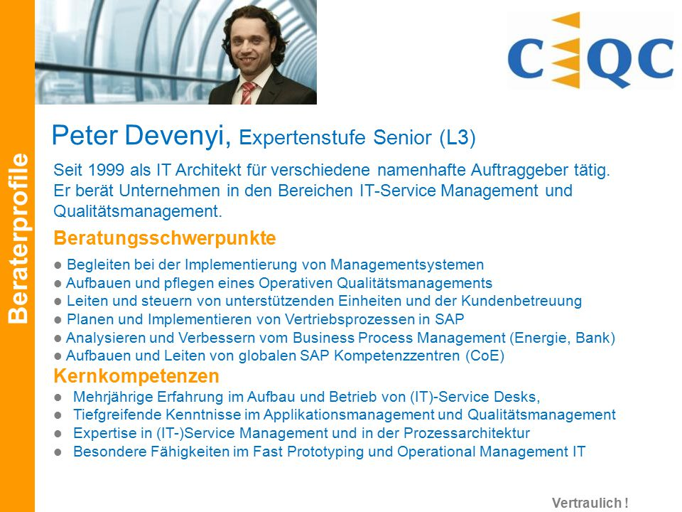 Peter Devenyi, Expertenstufe Senior (L3)