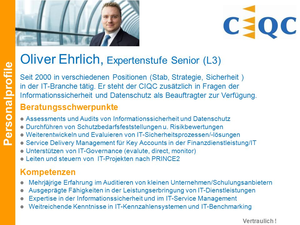 Oliver Ehrlich, Expertenstufe Senior (L3)