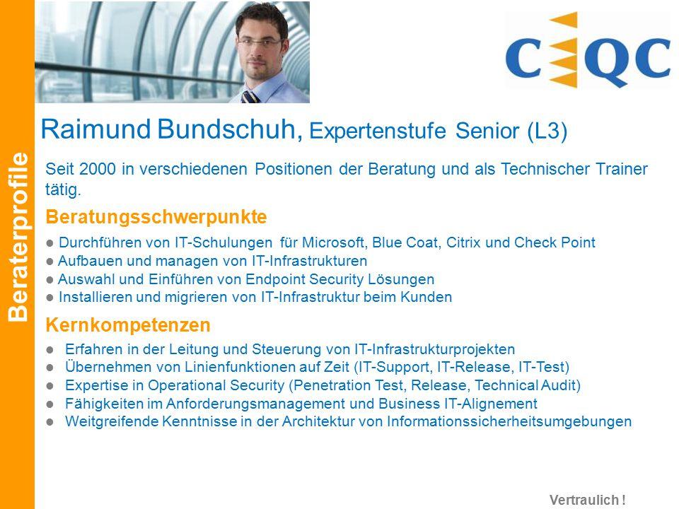 Raimund Bundschuh, Expertenstufe Senior (L3)