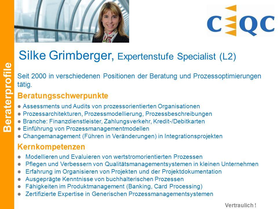 Silke Grimberger, Expertenstufe Specialist (L2)