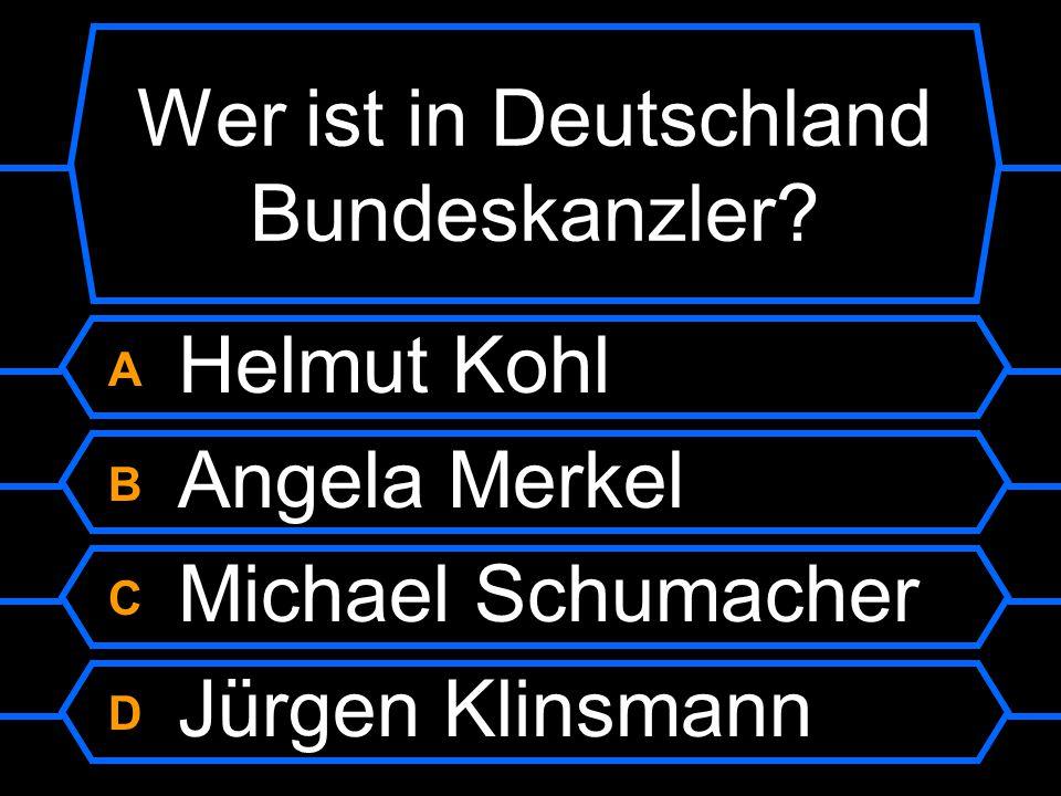 Wer ist in Deutschland Bundeskanzler