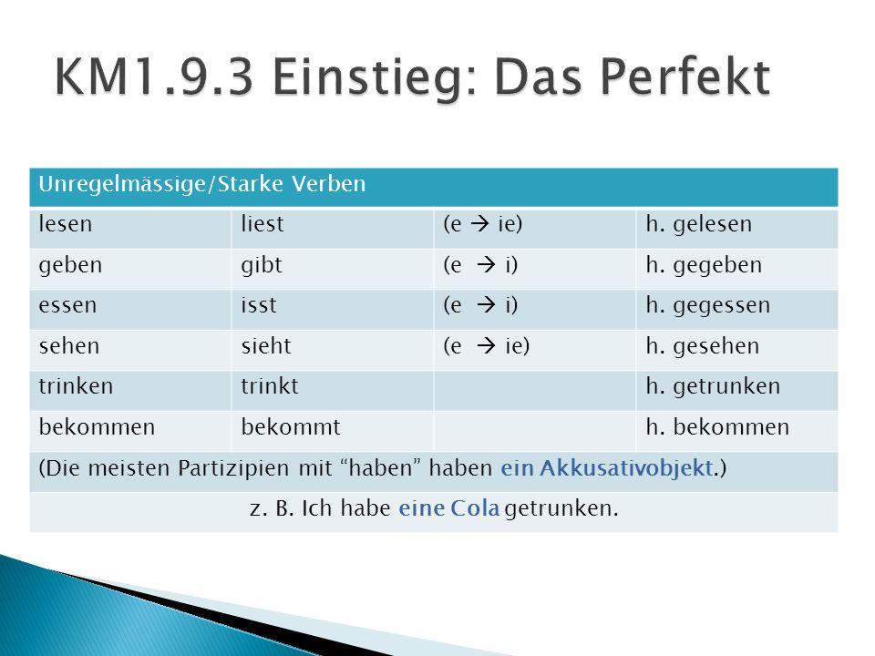 KM1.9.3 Einstieg: Das Perfekt