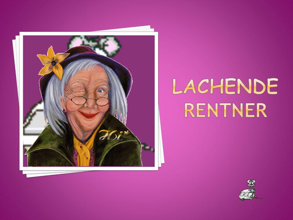 Lachende Rentner