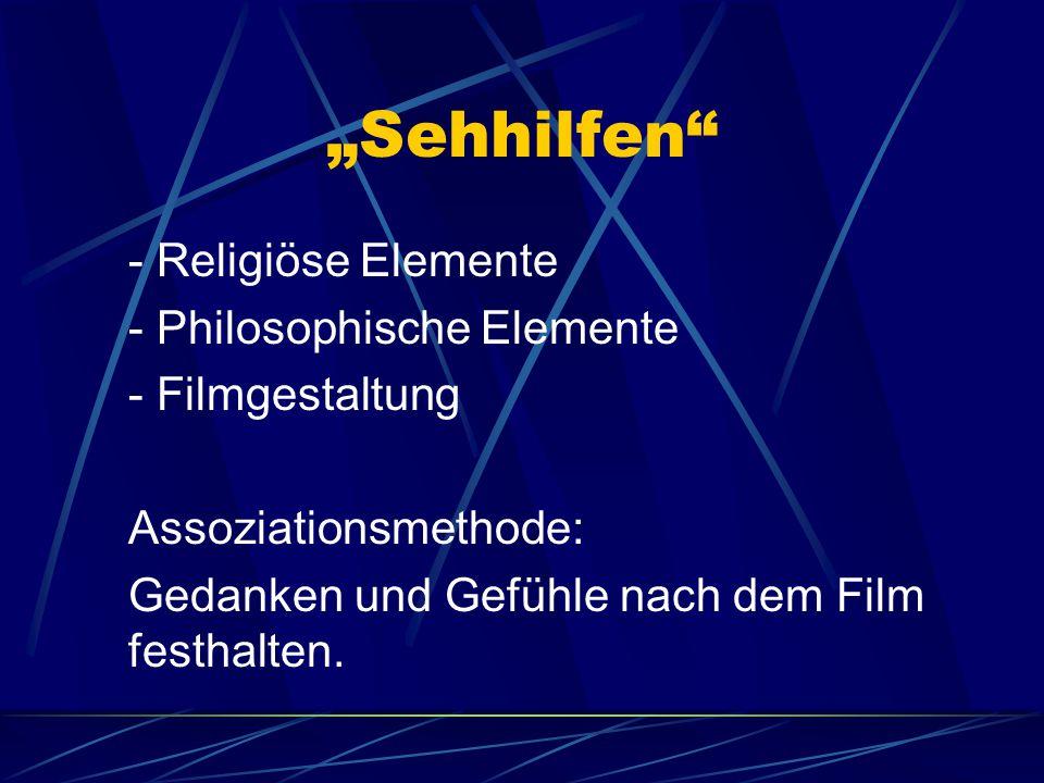 """""""Sehhilfen - Religiöse Elemente - Philosophische Elemente"""