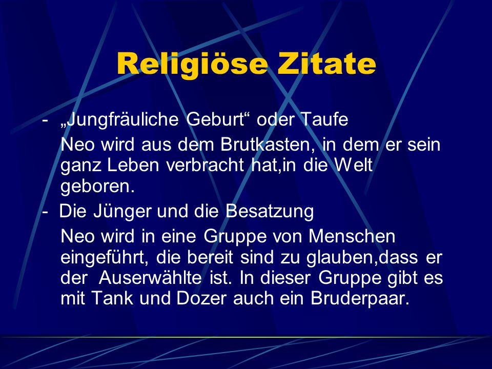 """Religiöse Zitate - """"Jungfräuliche Geburt oder Taufe"""