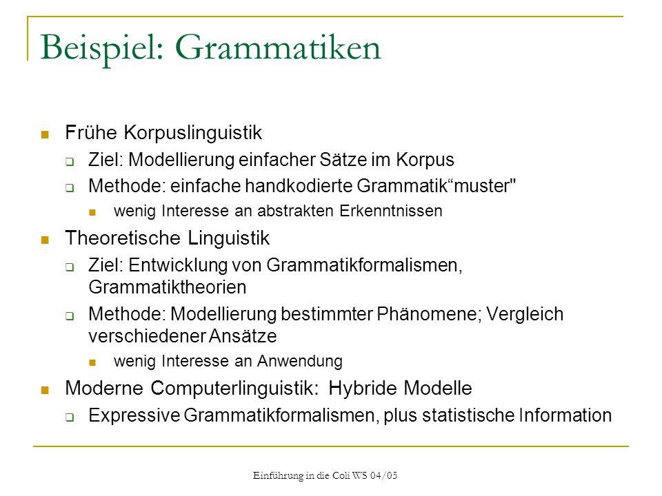 Beispiel: Grammatiken