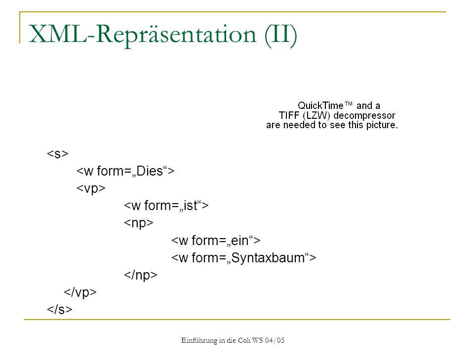 XML-Repräsentation (II)