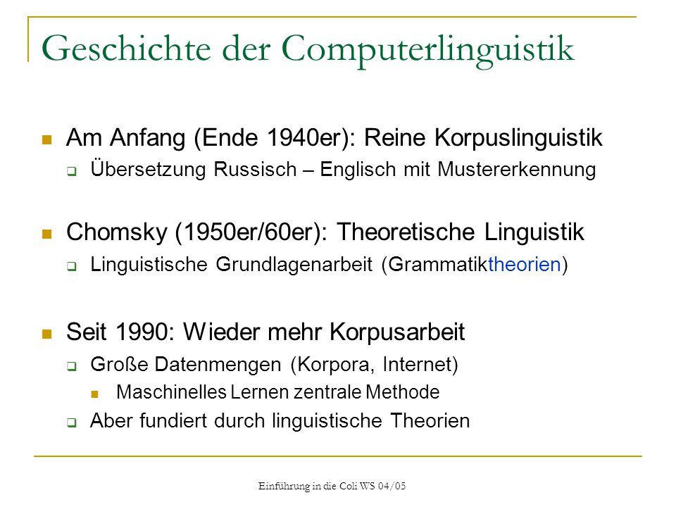 Geschichte der Computerlinguistik