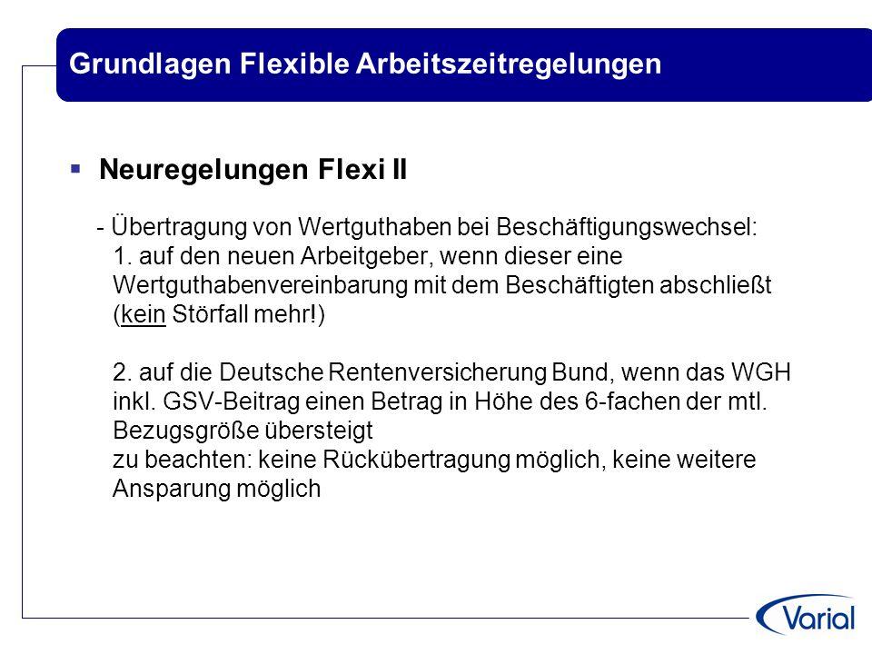 Grundlagen Flexible Arbeitszeitregelungen