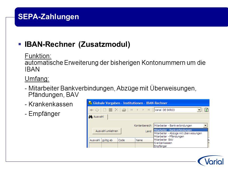 IBAN-Rechner (Zusatzmodul)