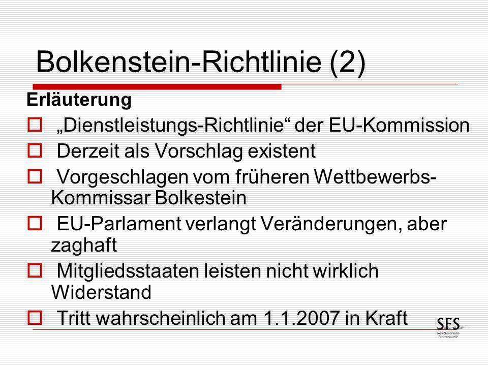 Bolkenstein-Richtlinie (2)